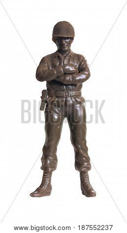 Isolated white /  Toy Soldier / miniature figure