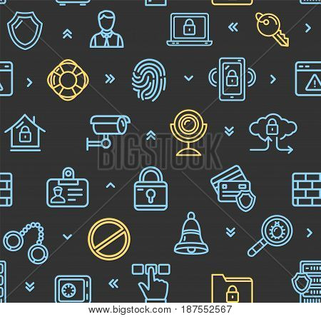 Data Security and Safe Pattern Background on a Black Concept Of Protection. Vector illustration
