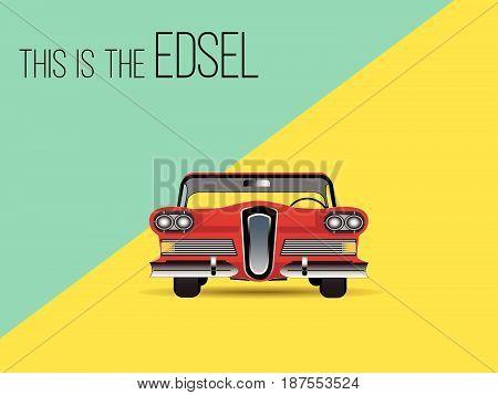car classic retro automobile 1950 style transport