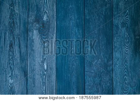 The Blue Background Of Old Wood Boards