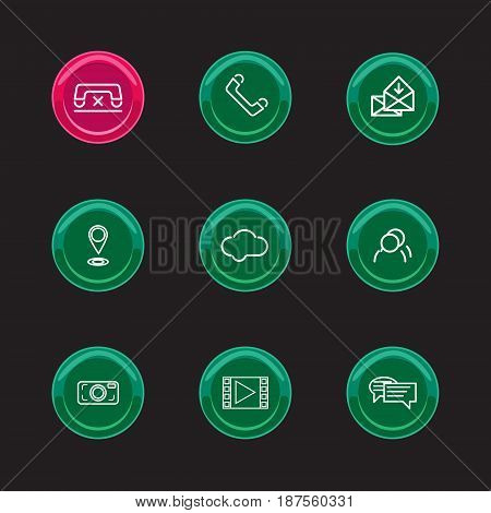 Vector illustration abstract buttons for mobile phone
