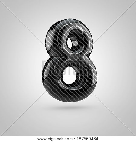 Black Carbon Number 8 Isolated On White Background