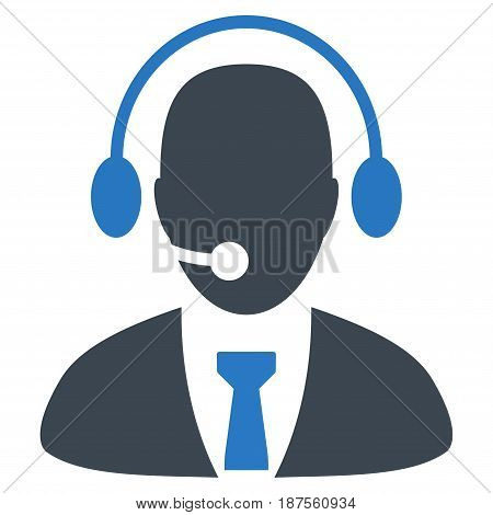 Call Center Director flat vector icon. An isolated illustration on a white background.