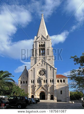 Parish Church of Christ the King aisled basilica built in the neo-Romanesque style