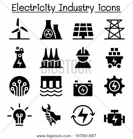 Electricity industry icon Vector illustration Graphic design