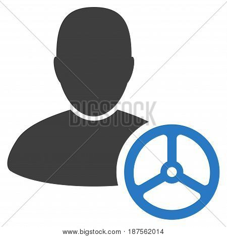Driver Man flat vector icon. An isolated illustration on a white background.