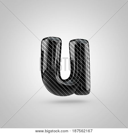 Black Carbon Letter U Lowercase Isolated On White Background