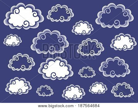 Cloud Background In White And Blue