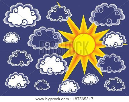 Clouds And Sun Background