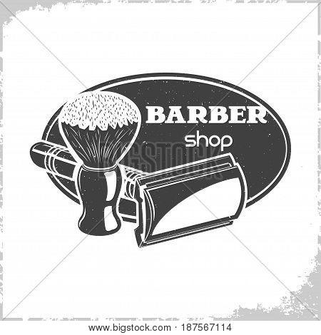 Vintage Barbers shop logo design, monochrome style, vector