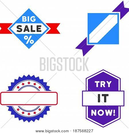 Sale Seal Stamp flat vector illustration collection. An isolated icons on a white background.