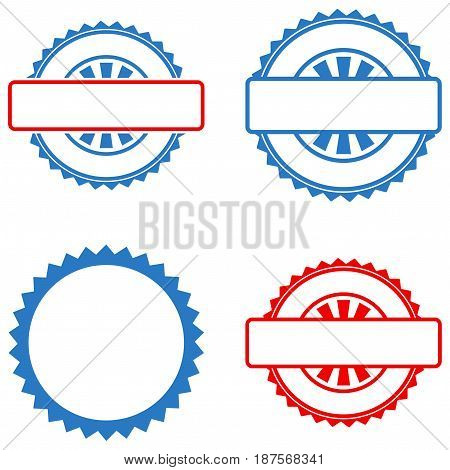 Seal Stamp Template flat vector pictograph set. An isolated icons on a white background.