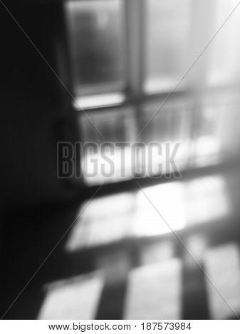 Diagonal black and white window bokeh background hd