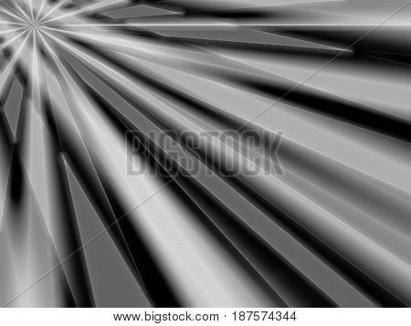 Diagonal black and white rays bokeh background hd