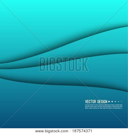 Abstract creative vector multicolored blurred background. Backdrop with gradient curves and waves. The concept of movement. The modern design. Colorful illustration with blue, green, turquoise color.