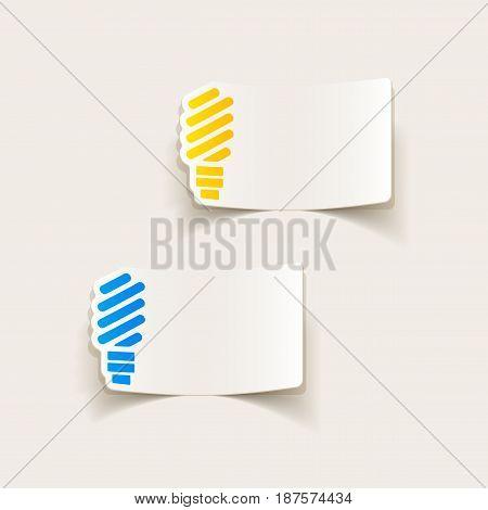It is a realistic design element: fluorescent light bulb