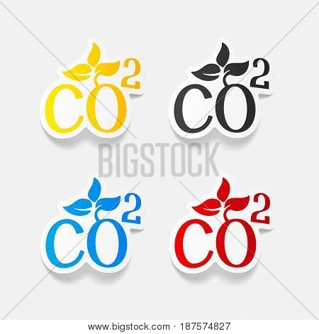 It is a realistic design element: co2 sign dioxide