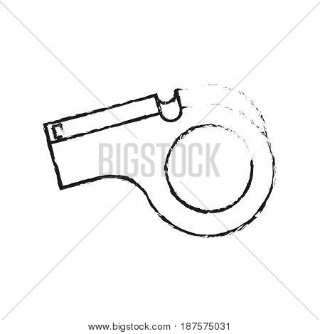monochrome blurred silhouette of closeup whistle vector illustration