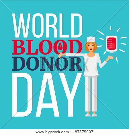 World Blood Donor Day Celebration Banner. Vector