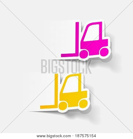 It is a realistic design element: forklift