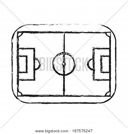 monochrome blurred silhouette of soccer field vector illustration