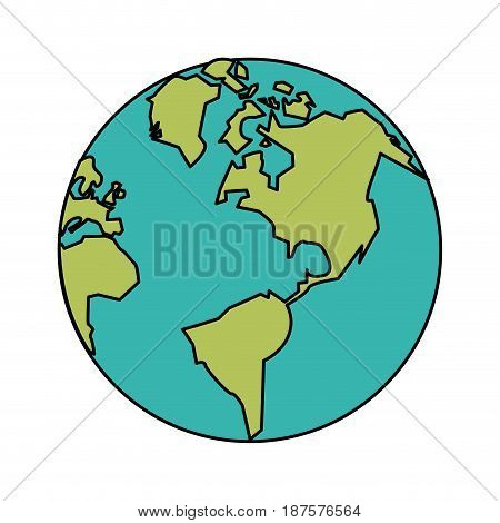 white background with planet earth vector illustration