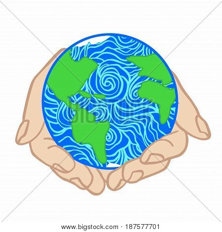 Earth day concept. Save planet. World environment day. Vector illustration