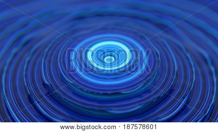 Abstract illustration with discs 3D rendering stretched pixels texture