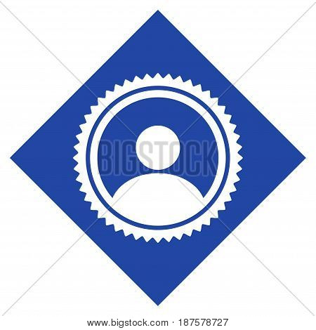 Rhombus User Seal Stamp flat vector icon. An isolated illustration on a white background.
