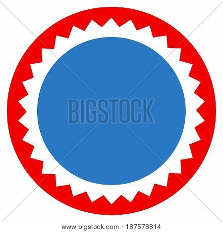 Round Seal Stamp flat vector pictograph. An isolated illustration on a white background.