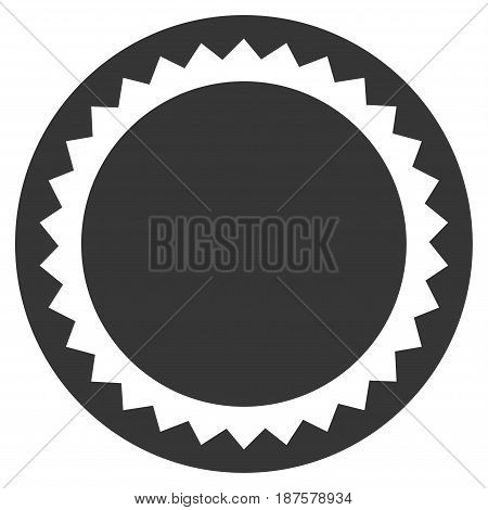 Round Seal Template flat vector icon. An isolated illustration on a white background.