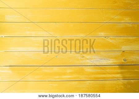 Yellow Wooden Background With Copy Space For Advertisement Or Your Free Text Here. Texture With Vintage Or Shabby Chic Style