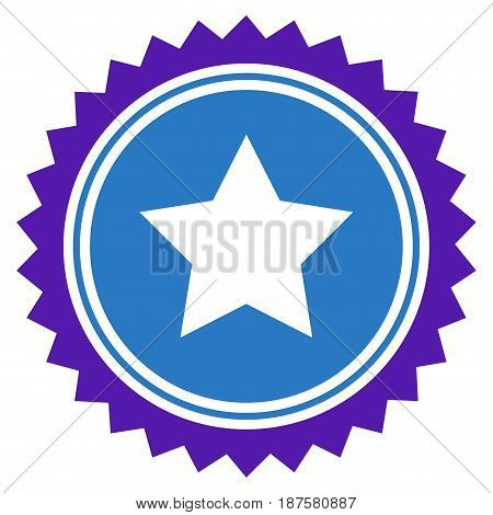 Star Seal Stamp flat vector pictograph. An isolated illustration on a white background.