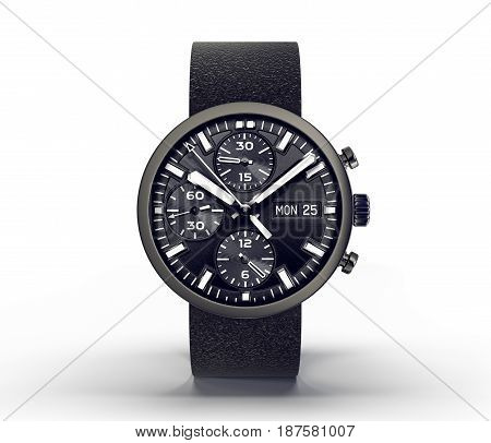 wrist watch isolated ona white. 3d illustration