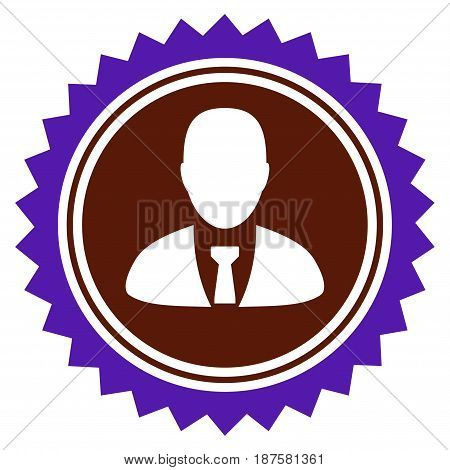 User Stamp Seal flat vector illustration. An isolated illustration on a white background.