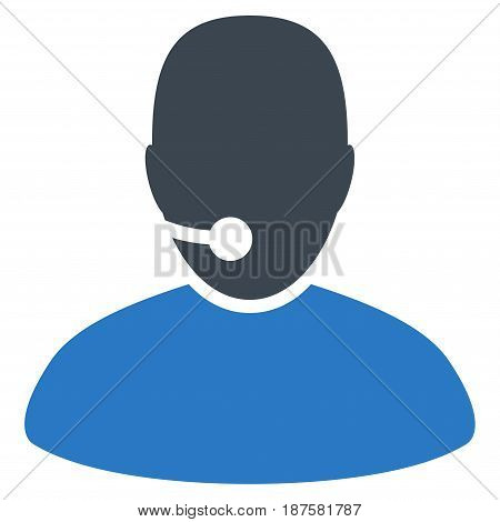 Operator flat vector pictograph. An isolated illustration on a white background.