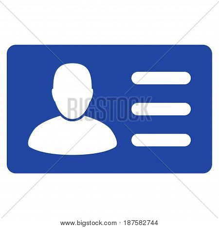 User Account Card flat vector illustration. An isolated illustration on a white background.