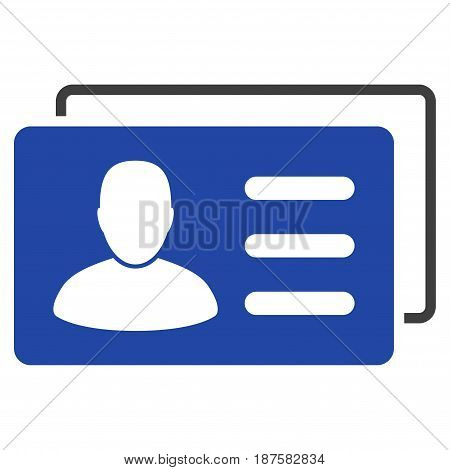User Account Cards flat vector pictogram. An isolated illustration on a white background.