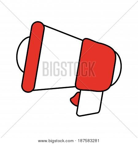 color silhouette image of megaphone closeup vector illustration