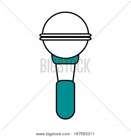 color silhouette image of wireless hand microphone vector illustration