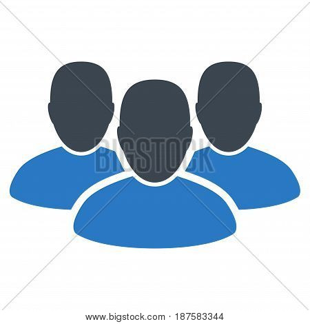 User Group flat vector icon. An isolated illustration on a white background.