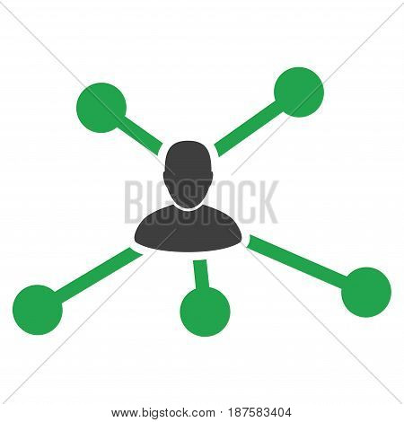 User Links flat vector pictograph. An isolated illustration on a white background.