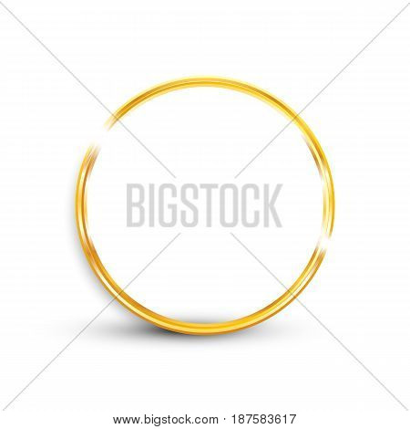 Gold Ring On White Background, Isolated Object