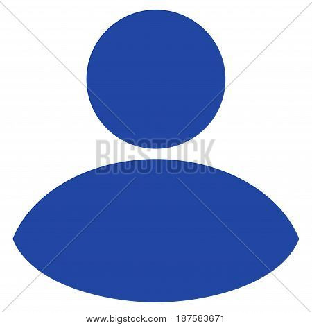 User flat vector pictograph. An isolated illustration on a white background.