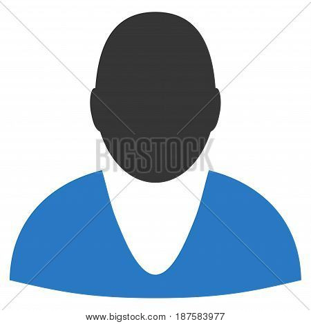 User flat vector pictogram. An isolated illustration on a white background.