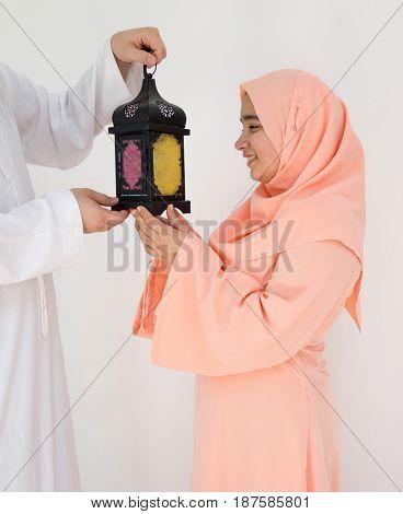 Happy couple ready for Ramadan