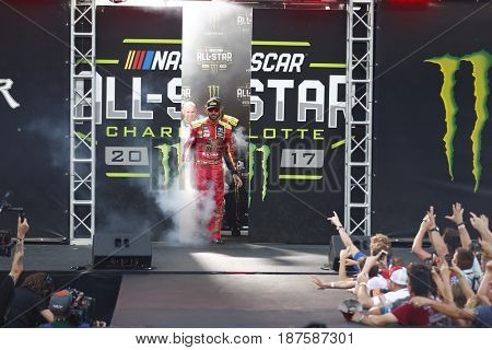 May 20, 2017 - Concord, NC, USA: Martin Truex Jr. (78) gets introduced to the crowd for the Monster Energy NASCAR All-Star Race at Charlotte Motor Speedway in Concord, NC.