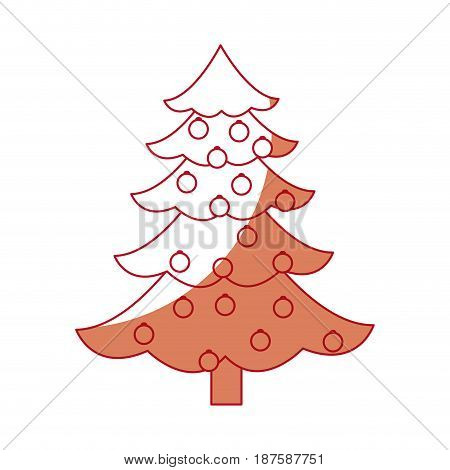 christmas tree ball decorations festive party vector illustration