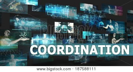 Coordination Presentation Background with Technology Abstract Art 3D Illustration Render