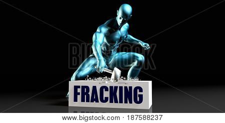 Get Rid of Fracking and Remove the Problem 3D Illustration Render